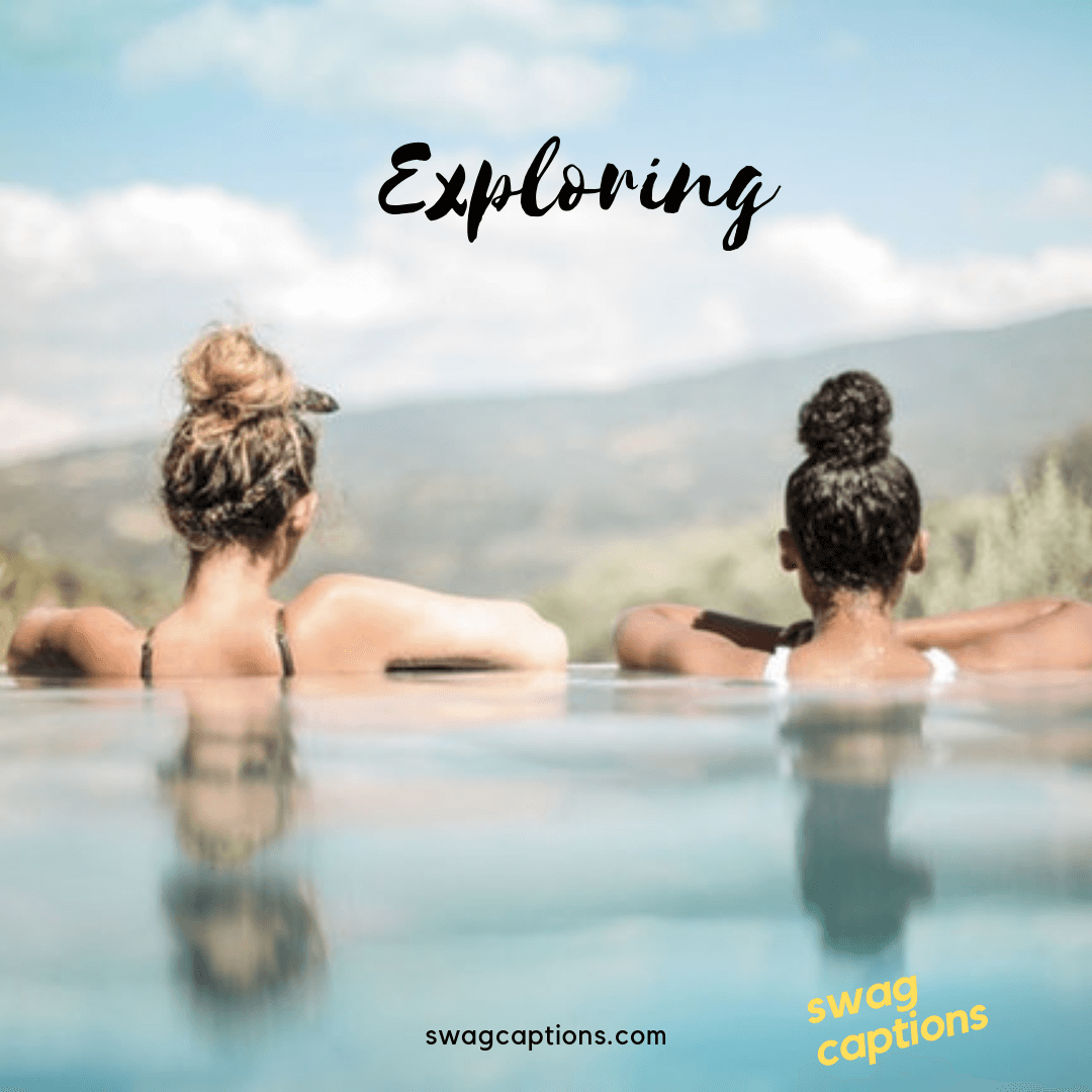 exploring - one word captions